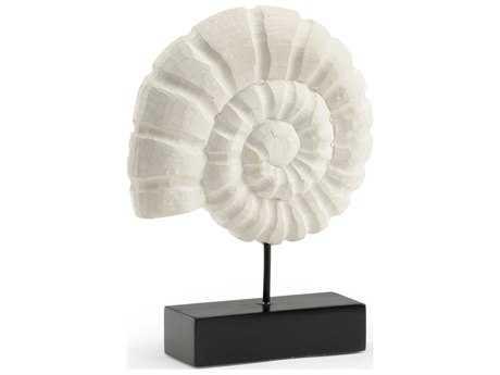 Wildwood Lamps Nautilus Wood White Sculpture