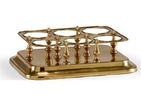 Wildwood Brass Wine Caddy Decorate Accent