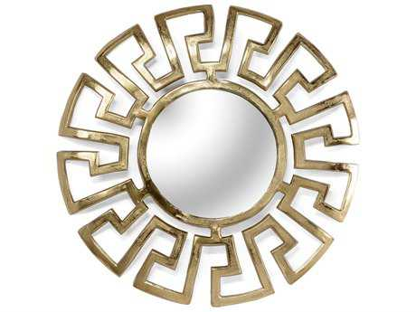 Wildwood Gold Plated Athena Small 22'' Round Wall Mirror