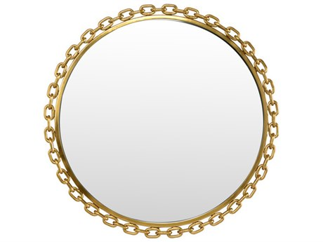 Wildwood Lamps Loughton Gold Plated 28.25'' Round Wall Mirror