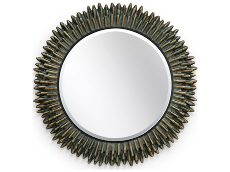 Wildwood Lamps Cuff Bronze Verdi 34'' Round Wall Mirror