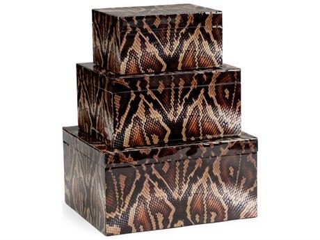 Wildwood Lamps Python Box (Set of 3)