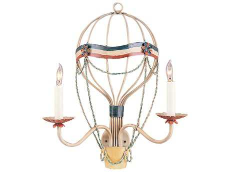 Wildwood Lamps Festive Balloon Iron Two-Light Wall Sconce