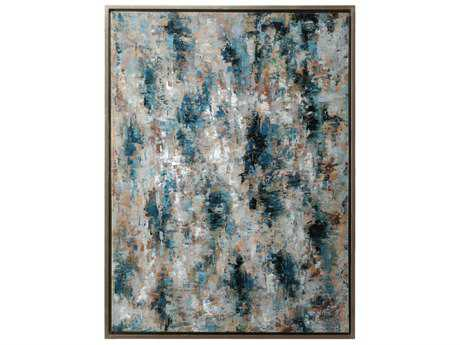 Wildwood Lamps Blue Birch Framed Oil Artists Work Stretched Canvas Wall Art