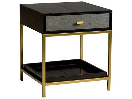 Wildwood Lamps Lawson Black 22'' Square Side Table