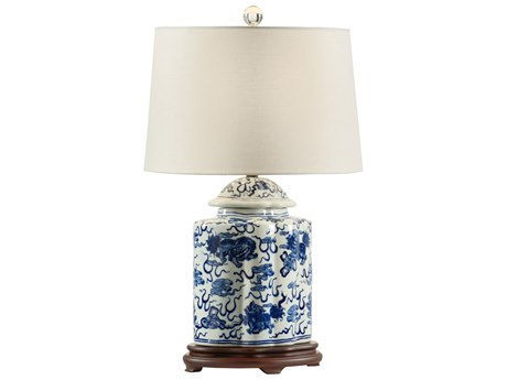 Wildwood Lamps Emperial Blue And White Buffet Lamp