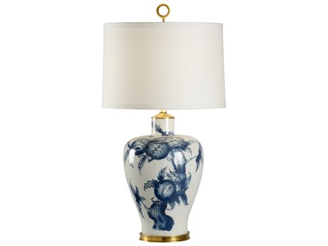 Wildwood Lamps Olivia Blue And White Buffet Lamp