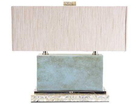 Wildwood Lamps Cabo Rectangular Box Mop Blue Table Lamp