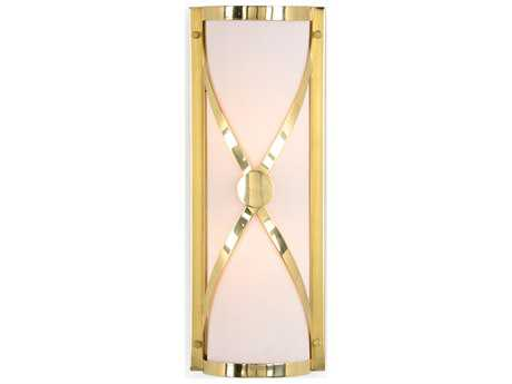 Wildwood Criss Cross Brass Polished Brass And White Wall Sconce