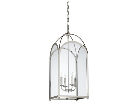Wildwood Revere Polished Nickel Four-Light 13.5'' Wide Chandelier