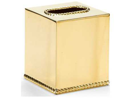 Wildwood Lamps Brass Tissue Box Cover