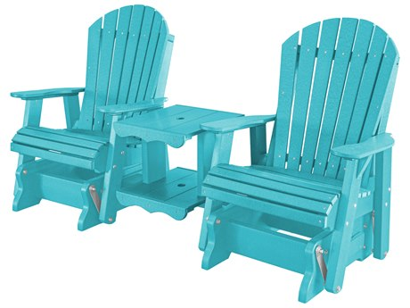 Wildridge Heritage Recycled Plastic Double Glider Rock-A-Tee Lounge Chair PatioLiving