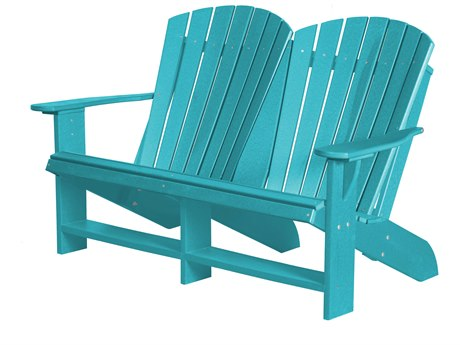 Wildridge Heritage Recycled Plastic Adirondack Loveseat PatioLiving