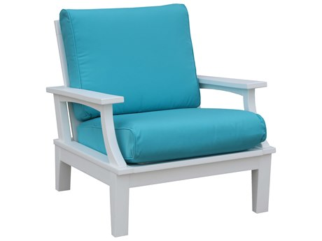 Wildridge Heritage Recycled Plastic Deep Seating Lounge Chair with Cushion PatioLiving