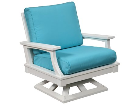 Wildridge Heritage Recycled Plastic Deep Seating Swivel Rocker Lounge Chair PatioLiving