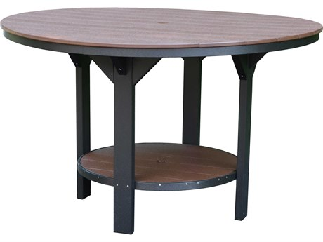 Wildridge Heritage Recycled Plastic 60''Wide Round Counter Table with Umbrella Hole