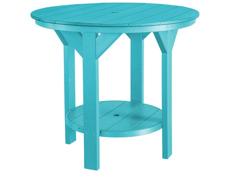 Wildridge Heritage Recycled Plastic 48''Wide Round Counter Table with Umbrella Hole
