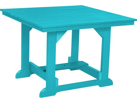 Wildridge Heritage Recycled Plastic 44''Wide Square Dining Table with Umbrella Hole