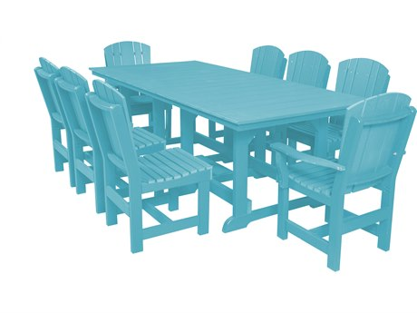 Wildridge Heritage Recycled Plastic 9 Piece Dining Set PatioLiving