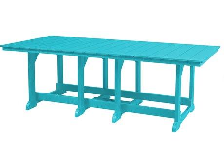 Wildridge Heritage Recycled Plastic 94''W x 44''D Rectangular Dining Table with Umbrella Hole