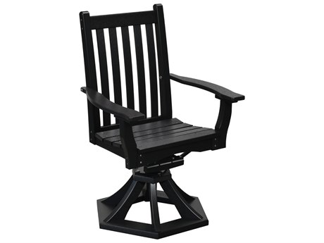 Wildridge Classic Recycled Plastic Swivel Rocker Dining Arm Chair