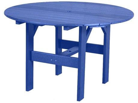 Wildridge Classic Recycled Plastic 46''Wide Round Dining Table with Umbrella Hole