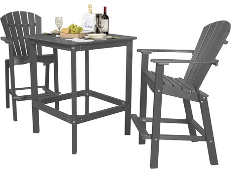 Wildridge Classic Recycled Plastic 3 Piece 42''High Dining Set PatioLiving