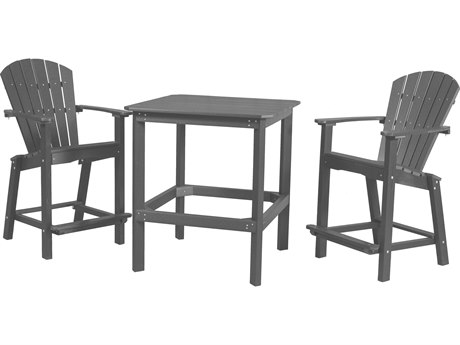 Wildridge Classic Recycled Plastic 3 Piece 38'' High Dining Set
