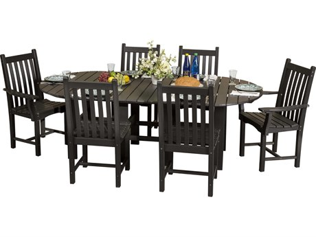 Wildridge Classic Recycled Plastic 7 Piece Dining Set PatioLiving