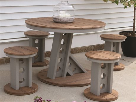 Wildridge Contemporary Recycled Plastic Manhattan Rise 5 Piece Dining Set PatioLiving