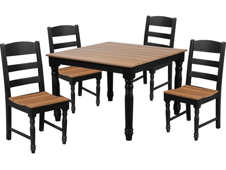 Wildridge Farm House Recycled Plastic 5 Piece Dining Set PatioLiving