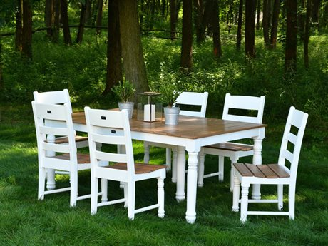 Wildridge Farm House Recycled Plastic 7 Piece Dining Set PatioLiving