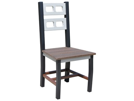 Wildridge David Lewis Recycled Plastic Manhattan Forge Dining Side Chair