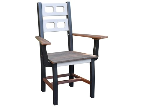 Wildridge David Lewis Recycled Plastic Manhattan Forge Dining Arm Chair