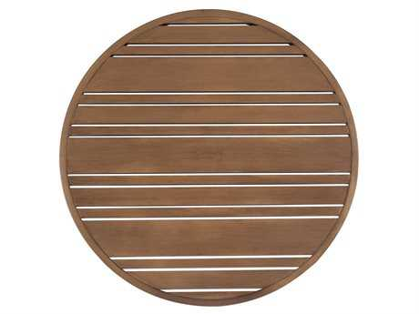 Woodard Extruded Aluminum Tri-Slat 22 Round Table Top