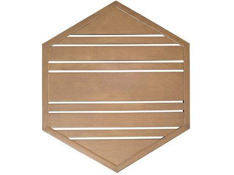Woodard Tri-Slat Extruded Aluminum 22 Hexagonal Table Top