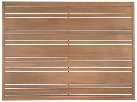 Woodard Extruded Aluminum Tri-Slat 48 x 36 Rectangular Table Top WR02645