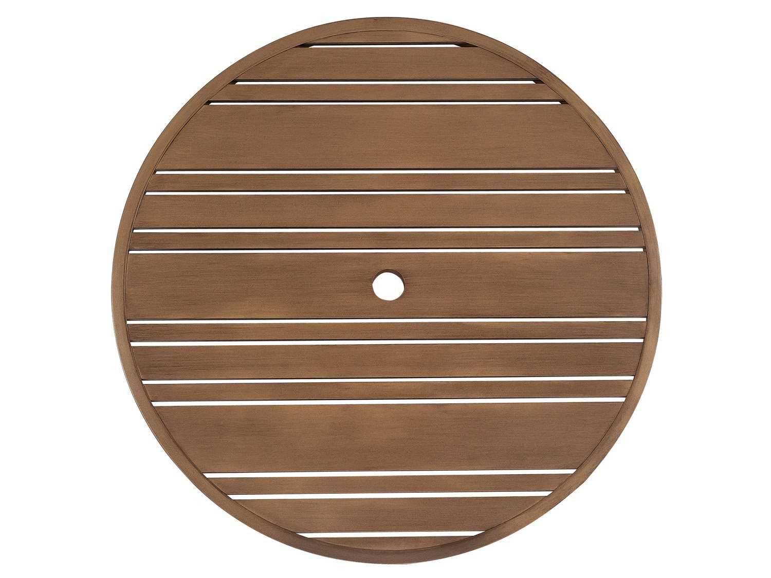 Woodard Extruded Aluminum Tri-Slat 60 Round Table Top with ...
