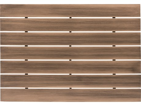 Woodard Extruded Aluminum Woodlands 48 x 36 Rectangular Coffee Table Top WR03033