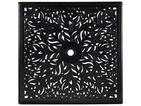 Woodard Cast Aluminum 36 Square Napa Table Top with Umbrella Hole