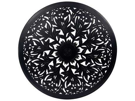 Woodard Cast Aluminum Napa 60 Round Table Top with Umbrella Hole