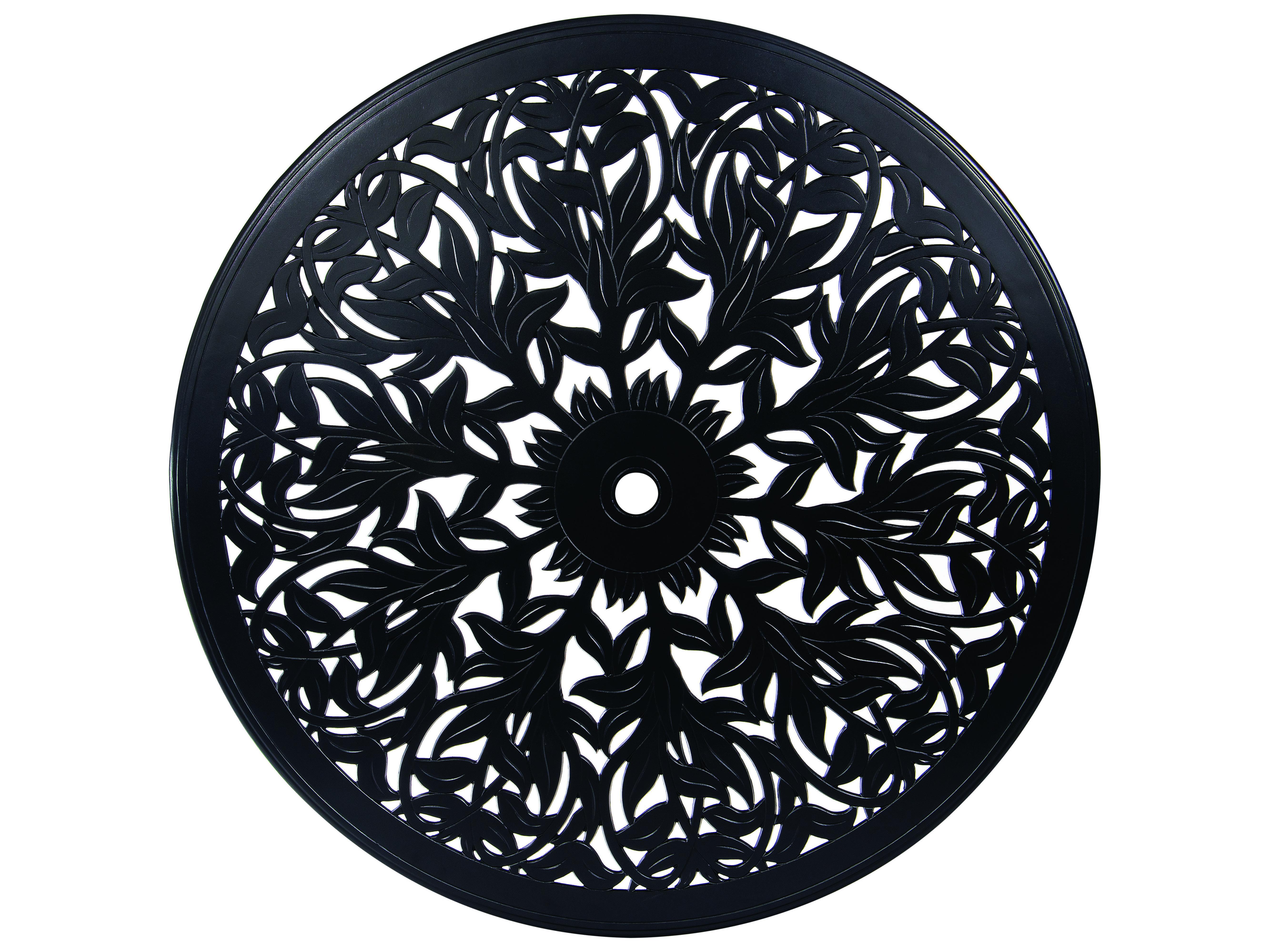 woodard cast aluminum napa 60 round table top with umbrella hole 03160. Black Bedroom Furniture Sets. Home Design Ideas