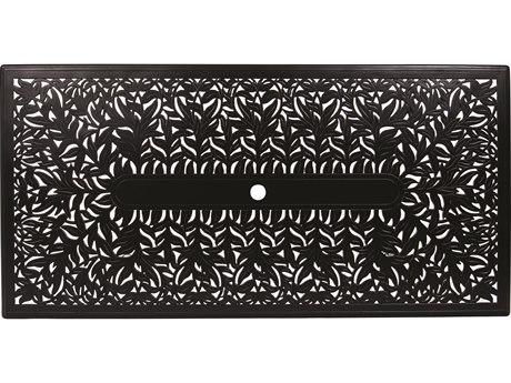 Woodard Cast Aluminum Napa 84 x 42 Rectangular Napa Table Top with Umbrella Hole
