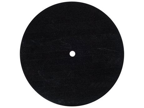 Woodard Black Granite 48 Round Table Top with Umbrella Hole
