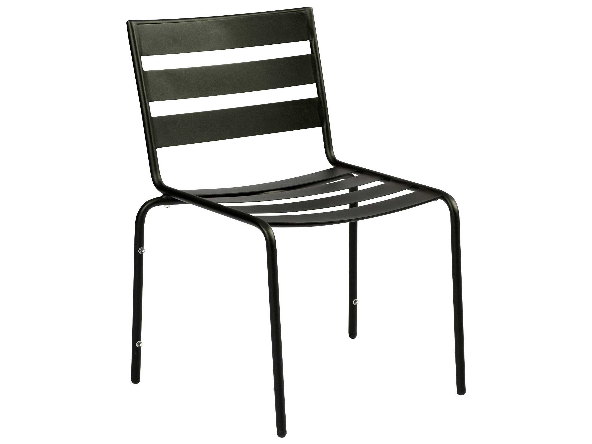Woodard Cafe Series Wrought Iron Dining Chair in Mercury ...