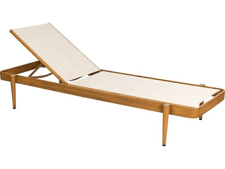 Woodard Daytona Sling Aluminum Stackable Chaise Lounge