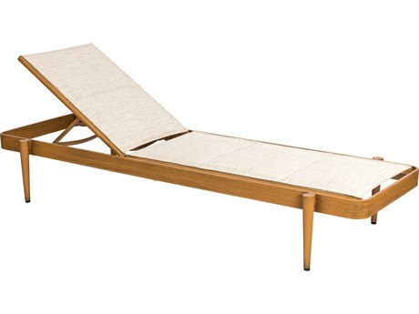 Woodard Daytona Padded Sling Aluminum Stackable Chaise Lounge