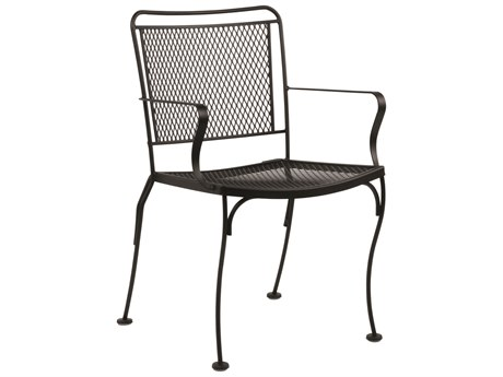Woodard Constantine Wrought Iron Stackable Dining Arm Chair