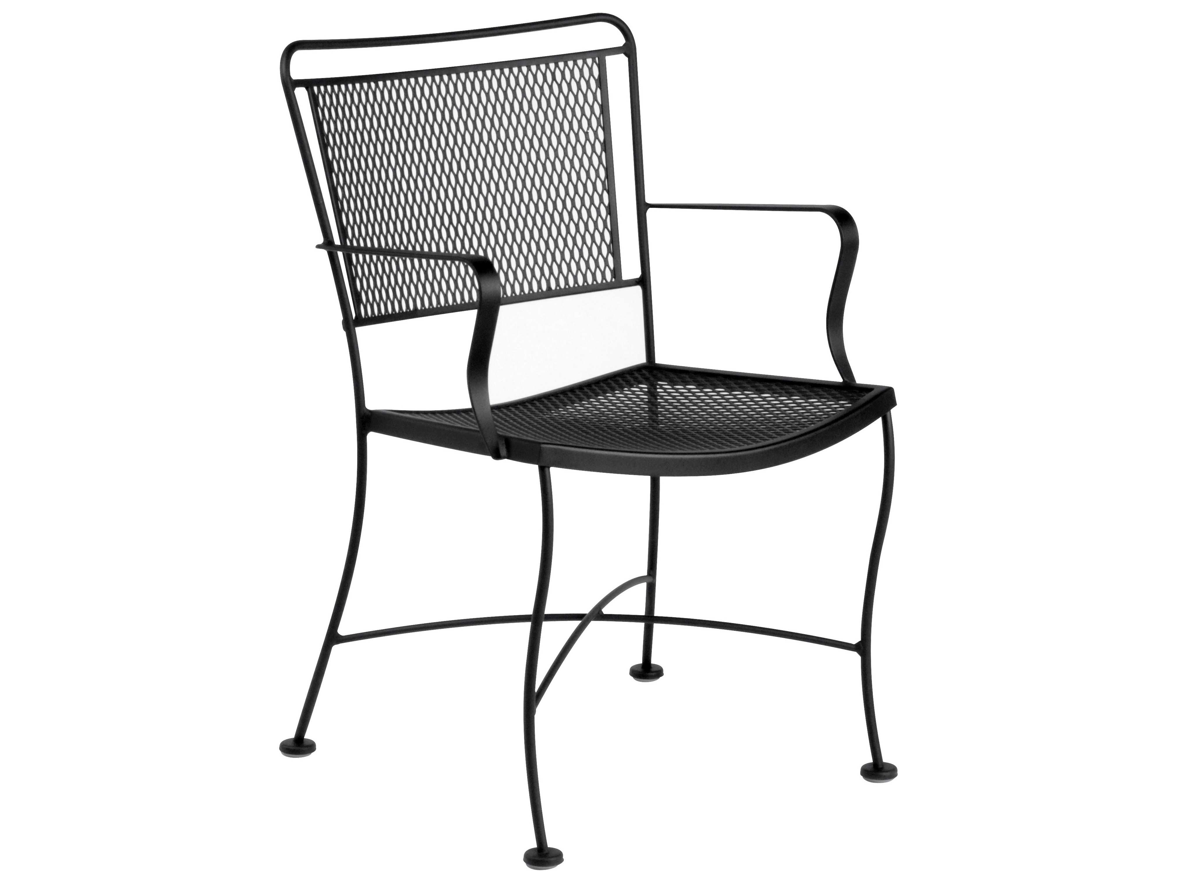 Wrought Iron Barrel Chair Outdoor Cushions: Woodard Constantine Wrought Iron Dining Chair