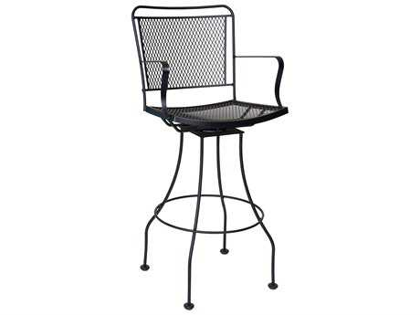 Woodard Constantine Wrought Iron Swivel Bar Stool